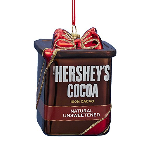 Glass Hershey's Cocoa Ornament