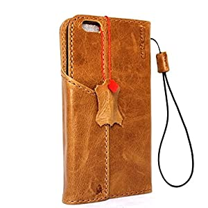 Genuine Italy Oiled Leather Case for Iphone 6 Plus + Book Wallet Handmade Business Luxury New Free Shipping ! Band