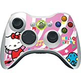 Hello Kitty Xbox 360 Wireless Controller Skin - Hello Kitty Dancing Notes Vinyl Decal Skin For Your Xbox 360 Wireless Controller