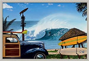 Break Time by Scott Westmoreland Surf Wave Ocean Scene 38x26 in Art Print Framed Picture