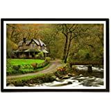 EzyPRNT Lovely Nature Nature Framed Poster (Size: 19x13 Inch)