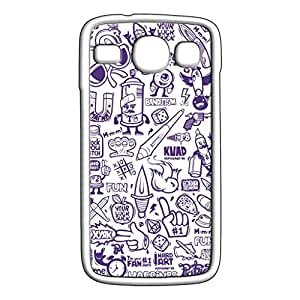 Mobile Cover Shop Glossy Finish Mobile Back Cover Case for Samsung Core White