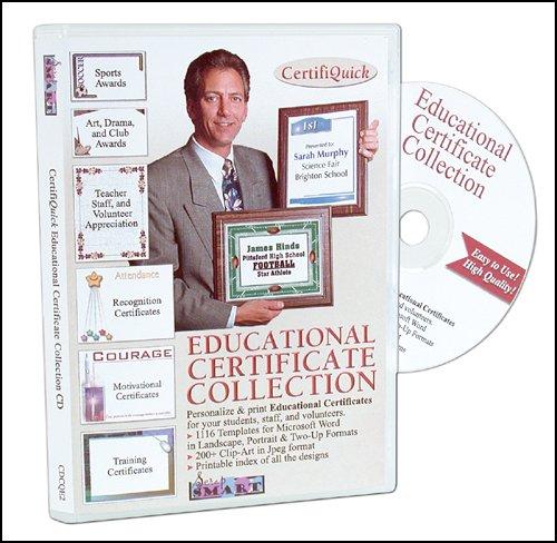 Scrapsmart - Certifiquick - Educational Certificate - Software Collection - Jpeg & Microsoft Word Files (Cdcqe2)