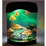Novelty LED Artificial Jellyfish Aquarium Lighting Fish Tank Night Light Lamp