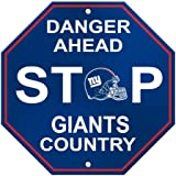 NFL New York Giants Stop Sign