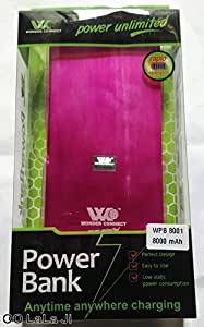 Wonder Connect 8000 mAh True Capacity Power Bank for All Smart Phones