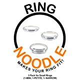 RING NOODLE for THIN rings (1-Mini, 1-Petite, 1-Narrow) Ring Size Reducer, Ring Guard, Ring Size Adjuster