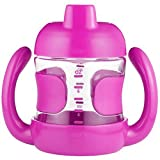 OXO Tot Sippy Cup with Removable Handles and Leakproof Valve (7 oz.) Pink (Color: Pink, Tamaño: 7 Ounce)