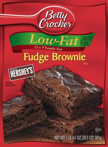 Betty Crocker Low Fat Fudge Brownie Mix, 20.5-Ounce Boxes (Pack of 12) at Amazon.com