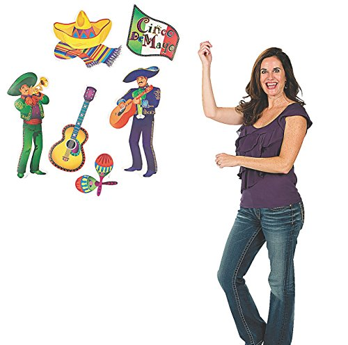 "Mariachi Men Cutouts (6 Pcs. Per Set) 7 1/2"" - 24"""