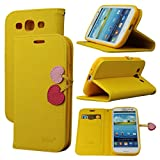 Case for Galaxy S3, By Ailun,Wallet Case,PU Leather Case,Cut,Credit Card Holder,Flip Cover Skin,(Yellow)