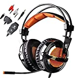 2016 NEW VERSION SADES SA-928S PS3 PS4 Xbox Headset With Microphone Stereo Lightweight Gaming Headsets Headphone for PS3 PS4 PC Xbox 360 Xbox one Mac Laptop(Black)