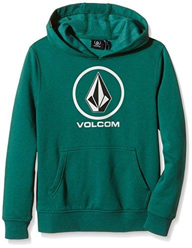 Volcom - Felpa in pile con cappuccio Bambino Badboon, Verde (Grass Green), M, 10 anni(129-148cm)