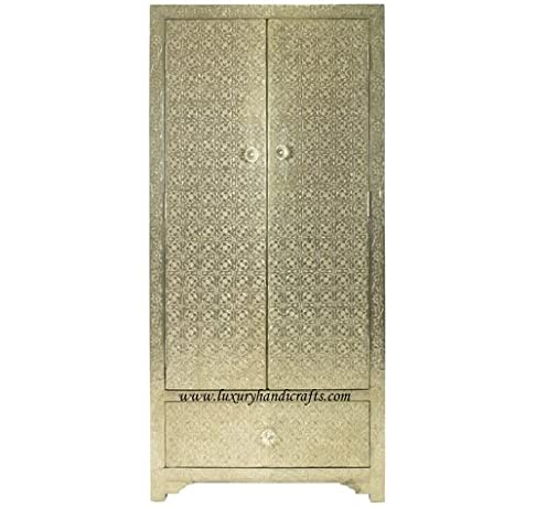 Metallo bianco con un cassetto Almirah