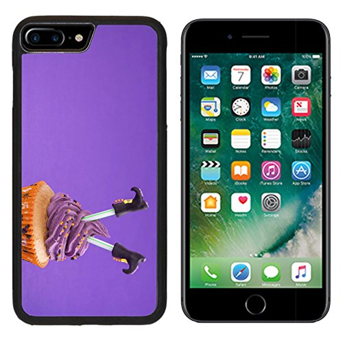 [Luxlady Premium Apple iPhone 7 Plus Aluminum Backplate Bumper Snap Case IMAGE ID: 22167569 Halloween cupcake with witch] (Easy Decorated Halloween Cupcakes)
