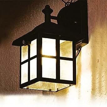 Solar white solar laterne wandleuchte mit pir bewegungsmelder lampe cis 57126 - Wandbeleuchtung solar ...
