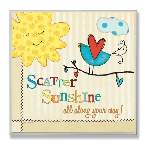 The Kids Room by Stupell Scatter Sunshine All Along Your Way Square Wall Plaque