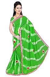 Kartik Fashion Women's Georgette Saree - 20_Green