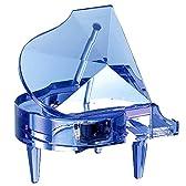 Crystal Piano クリスタルピアノ オルゴール (ブルー) 【化粧箱入】 曲:花のワルツ SA-J03