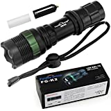 Super Bright Cree Q5 LED Flashlight torch 900 Lumens 7W Zoomable Torch