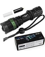 Fordex Group Super Bright T6 Cris lampe de poche LED torche 900 Lumens 7W Zoomable Torch