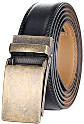Marino Men\'s Genuine Leather Ratchet Dress Belt with Linxx Buckle, Enclosed in an Elegant Gift Box - Custom: Up to 44\