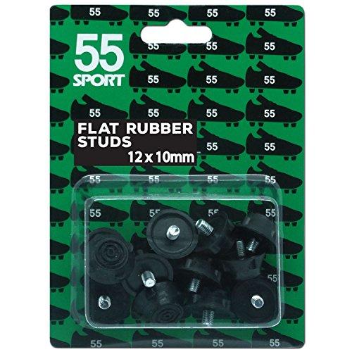 55Sport Coppa del Mondo di calcio borchie, Black Rubber, 12 x 10 mm