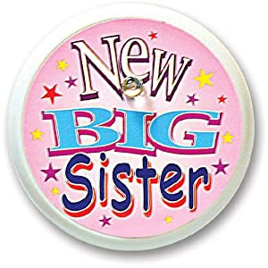 Beistle BL035 New Big Sister Blinking Button, 2-Inch