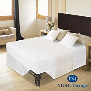 "Night Therapy 8"" Tight Top Spring Mattress & Bed Frame Set - Full"