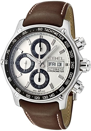 Ebel 1911 Discovery Chronograph 1215797 Steel Mens Strap Watch DOW Calendar 9750L62/63B35P11