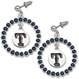 Texas Rangers Spirit Crystal Logo Wreath Earrings Amazon.com