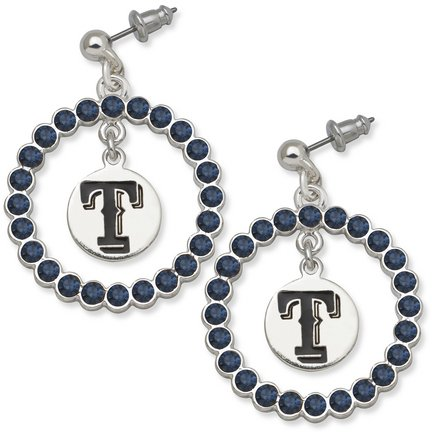 Texas Rangers Spirit Crystal Logo Wreath Earrings at Amazon.com