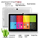 ProntoTec 7 Android 4.4 KitKat Tablet PC, Cortex A8 1.2 GHz Dual Core Processor,512MB / 4GB,Dual Camera,HDMI,G-Sensor (White)