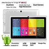 "ProntoTec 7"" Android 4.4 KitKat Tablet PC, Cortex A8 1.2 GHz Dual Core Processor,512MB / 4GB,Dual Camera,HDMI,G-Sensor (White)"