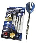 Target Darts Match Play Natural Tungsten Soft Tip Darts, 18gm, Style 01