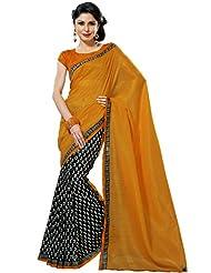 Prafful Silk Bhagalpuri Printed Saree With Unstitched Blouse - B00KNUFVLK