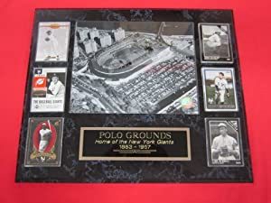 New York Giants Polo Grounds 6 Card Collector Plaque w 8x10 Photo by J & C Baseball Clubhouse