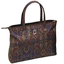 London Fog Soho 20 Inch City Shopper, Brown Paisley, One Size