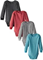 Carter's Baby Boys' 4 Pack Striped Bodysuits (Baby) - Assorted