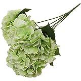 Phenovo 5 Heads DIY Artificial Silk LED String Light Bunch Plant Wedding Banquet Decor- Green