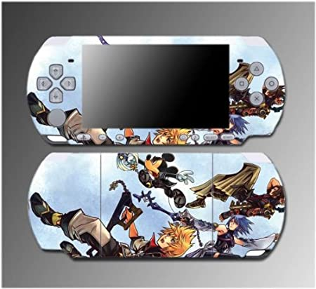 Kingdom Hearts Donald Mickey RPG Sora Goofy Game Vinyl Decal Sticker Cover Skin Protector #6 for Sony PSP Slim 3000 3001 3002 3003 3004 Playstation Portable
