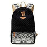 Abshoo Casual Canvas Dot Backpack Cute Lightweight Teen Girls Backpacks...
