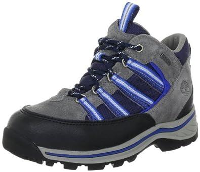 Timberland MAHOOSC GTX LCHKR 37724, Jungen Sportschuhe, Grau (Dark Grey with Blue), EU 32 (US 13.5)