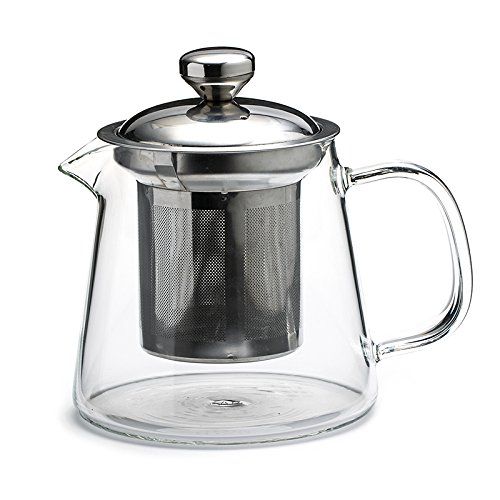Urban Teapot (Borosilicate glass teapot, micro-fine stainless steel infuser, 500ml)