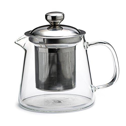 Urban Teapot (Borosilicate glass teapot, micro-fine stainless steel infuser, 500ml)