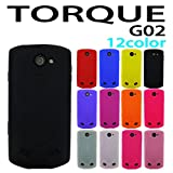『保護シール付き』 G02 TORQUE au 用 オリジナル シリコンケース (全12色) 黒色 [ TORQUE トルク G02 ケース カバー G02 G02 ]