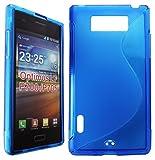 GR8VALUE LG Optimus L7 P700/P705 VARIOUS COLOUR S GEL CASE FLIP CASE COVER POUCH + FREE STYLUS (blue s gel case)