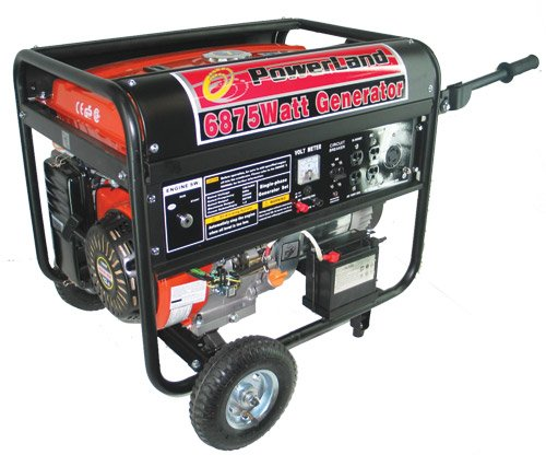 Powerland Pd6500E 6,500 Watt 13 Hp Ohv Gas Powered Portable Generator With Electric Start & Wheel Kit (Carb Compliant)