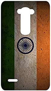 Flag Art India Wallpaper Back Cover Case for LG G3