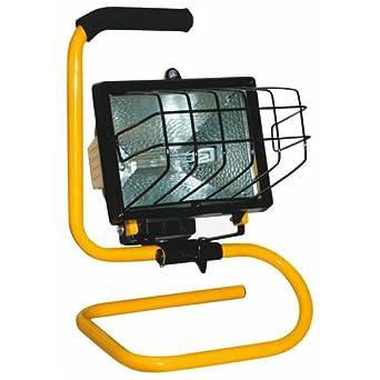 Power Zone Pz-1002 Portable Halogen Worklight, 500 Watts, 120 Volt
